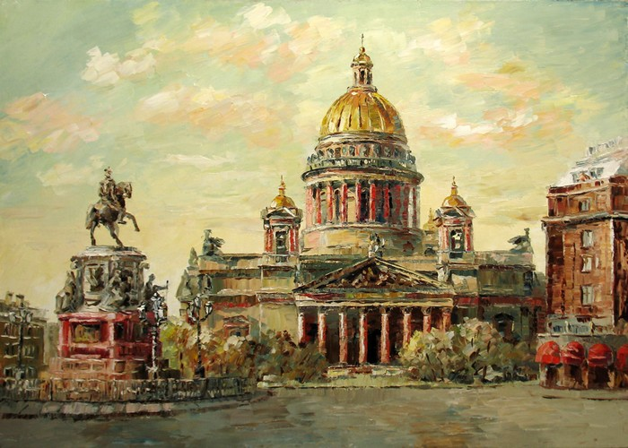 The St. Isaac's Cathedral.